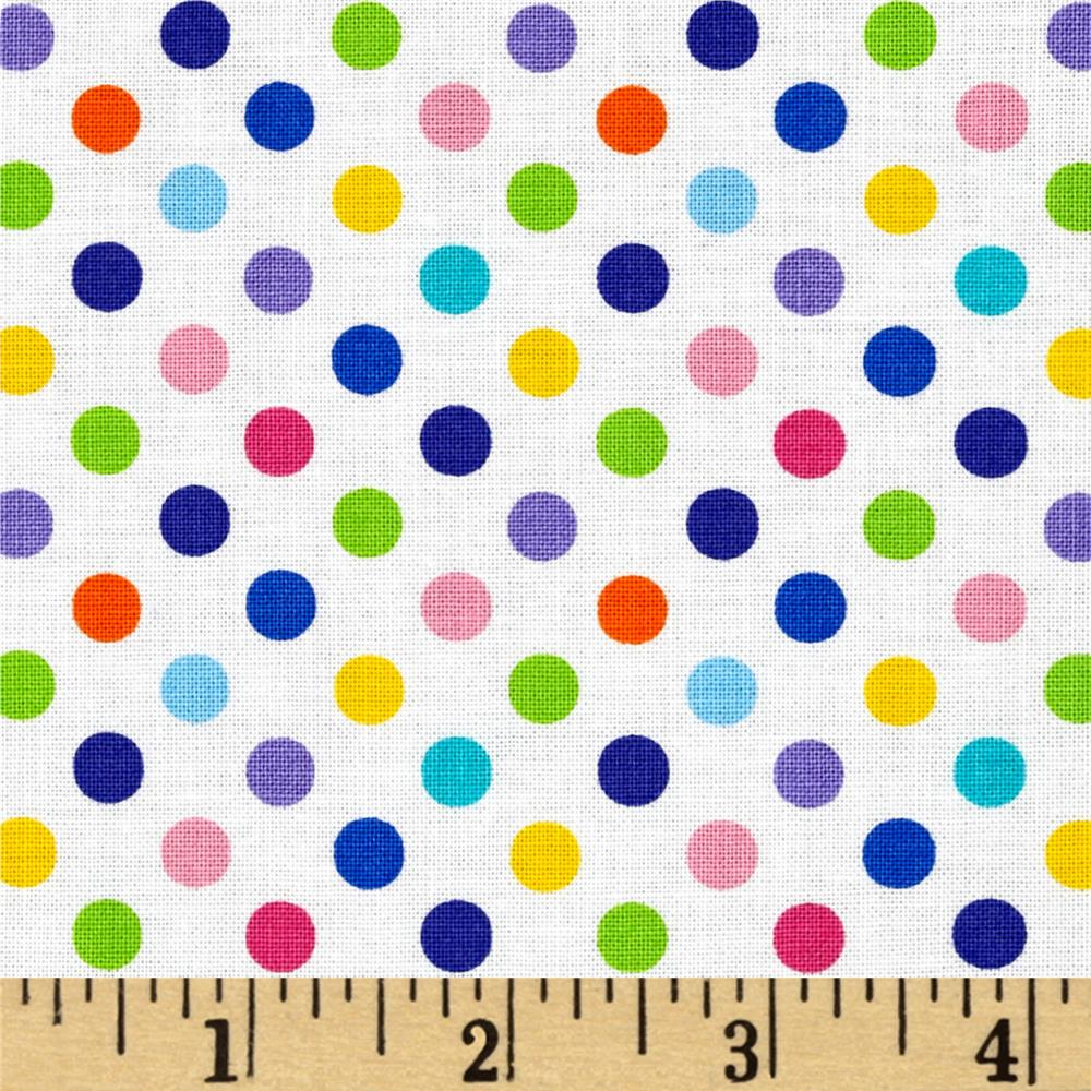 Moda Dot .Dot.Dash-! Dots Everywhere White