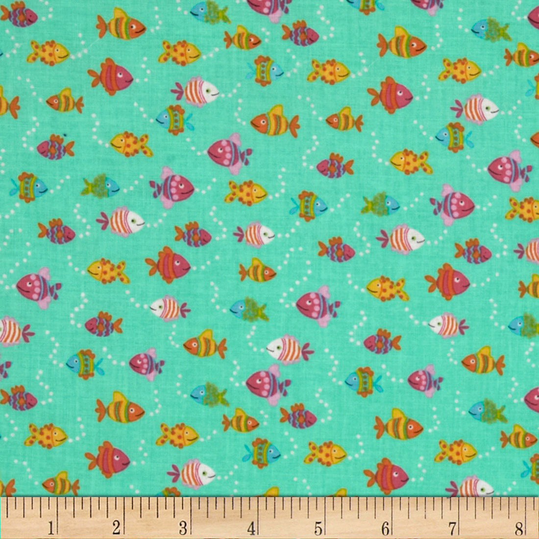Timeless Treasures Fish Jade Fabric