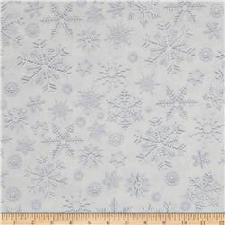 Kanvas White Out Snow Crystals Silver/White