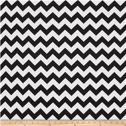 "Riley Blake 108"" Wide Medium Chevron Black"
