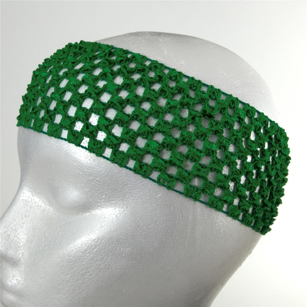 "2 3/4"" Crochet Headband Green"