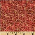 Marblehead Glistening Christmas II Small Floral Scroll Red