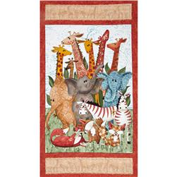 Wild Things Animal Panel Multi
