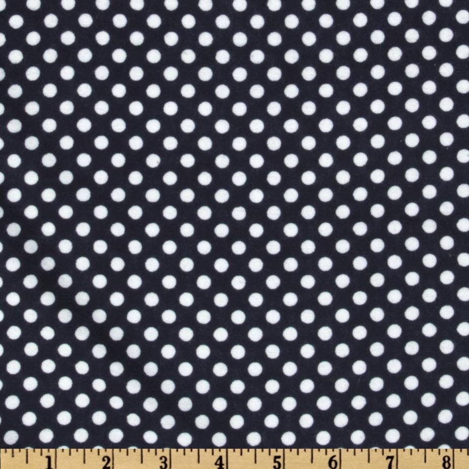 Camelot Flannel Polka Dots Navy