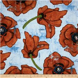 Michael Miller Poppies Big Poppy Spice Fabric