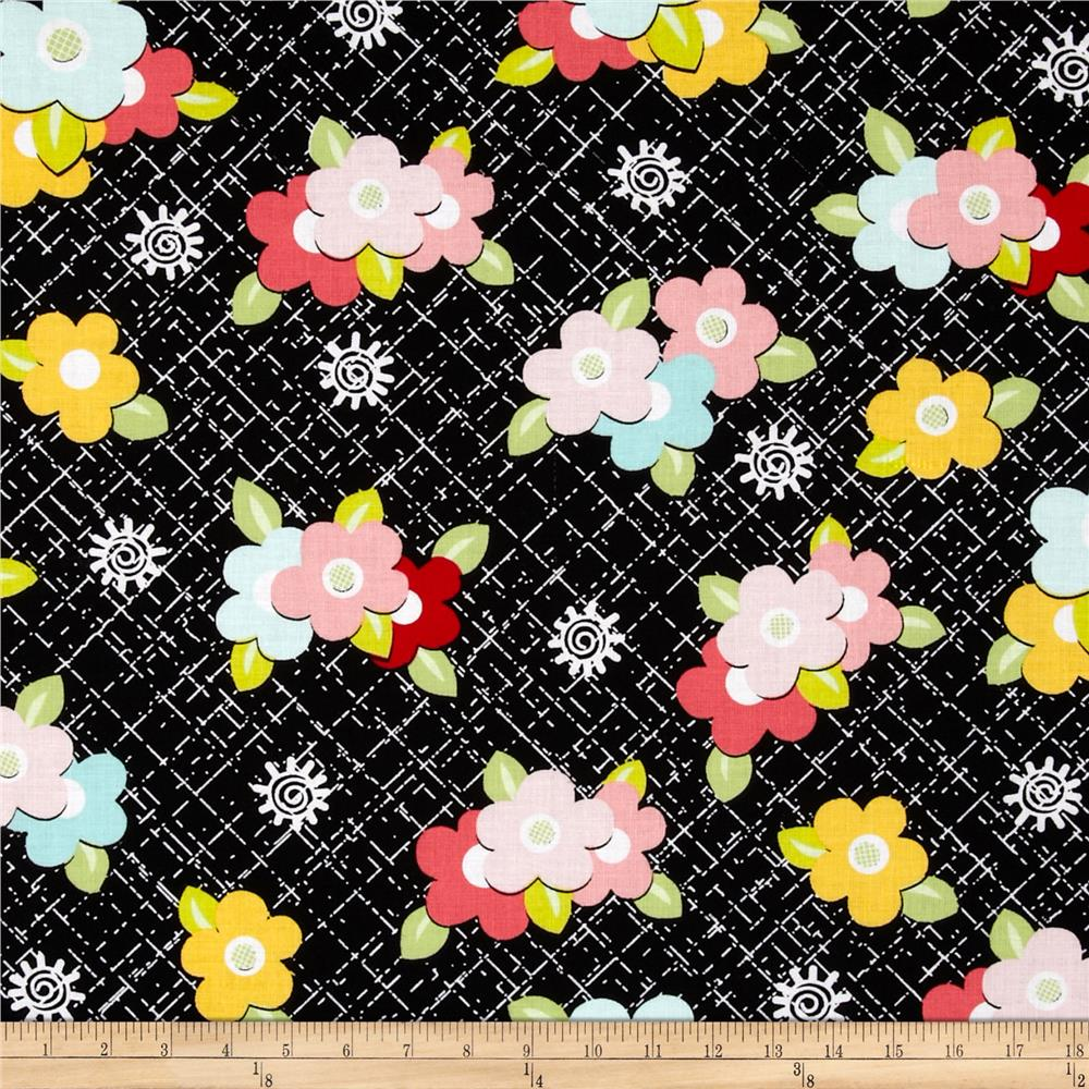 Sugar & Spice Medium Floral Black