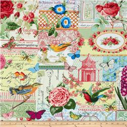 Michael Miller Menagerie Collage Multi Fabric