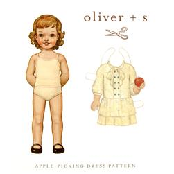 Oliver + S Apple Picking Dress 6 M-4T