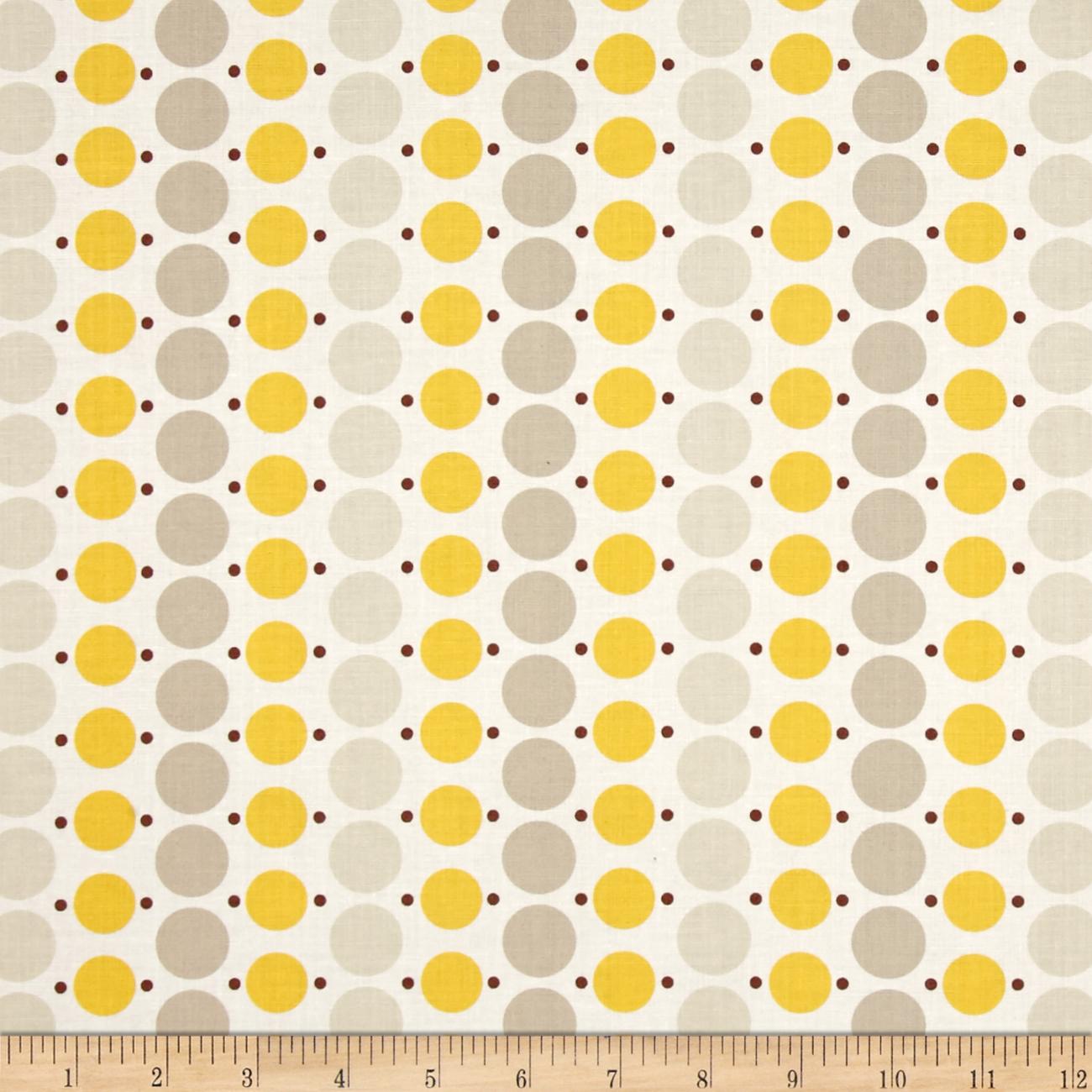 Image of Denyse Schmidt Katie Jump Rope Big Dot Sunflower Fabric