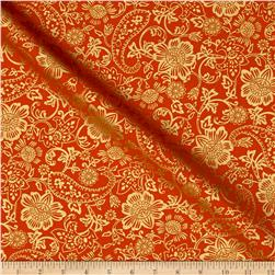 Kanvas Bohemian Rhapsody Tapestry Floral Burnt Orange