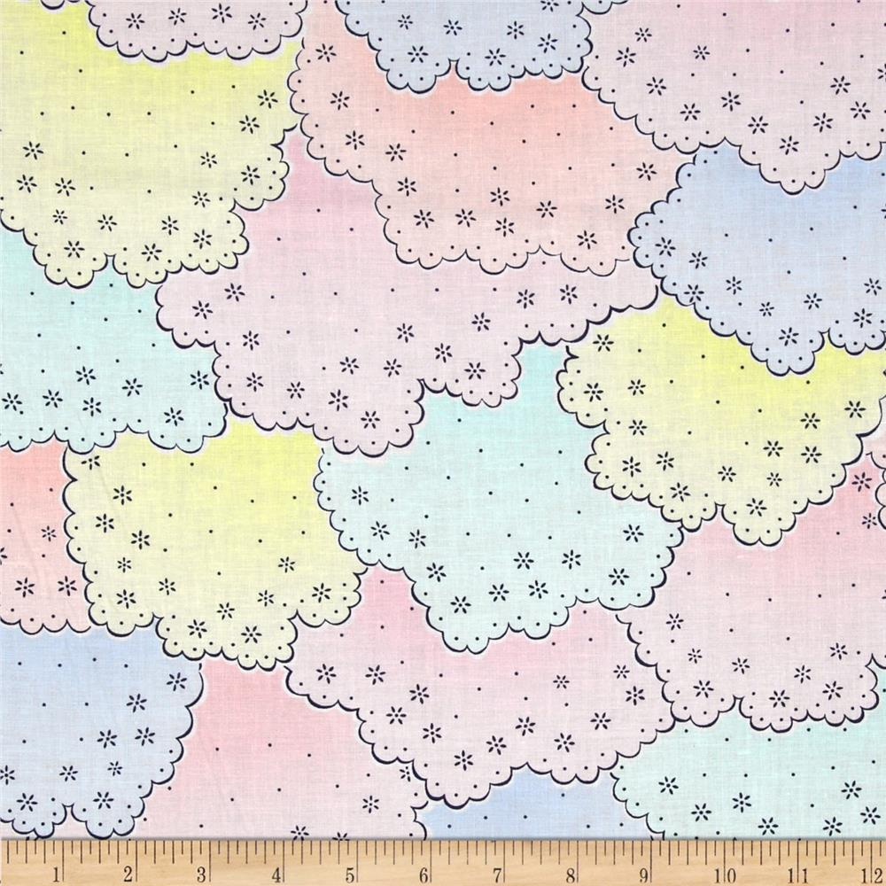 Michael Miller Cynthia Rowley Oh Baby Scalloped Lace Pastel