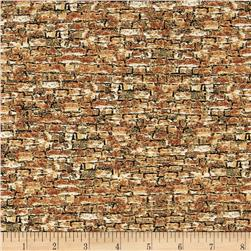 Sleigh Ride Bricks Texture Brown