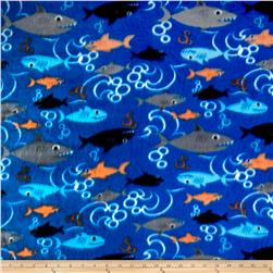 Fleece Print Aquarium Blue