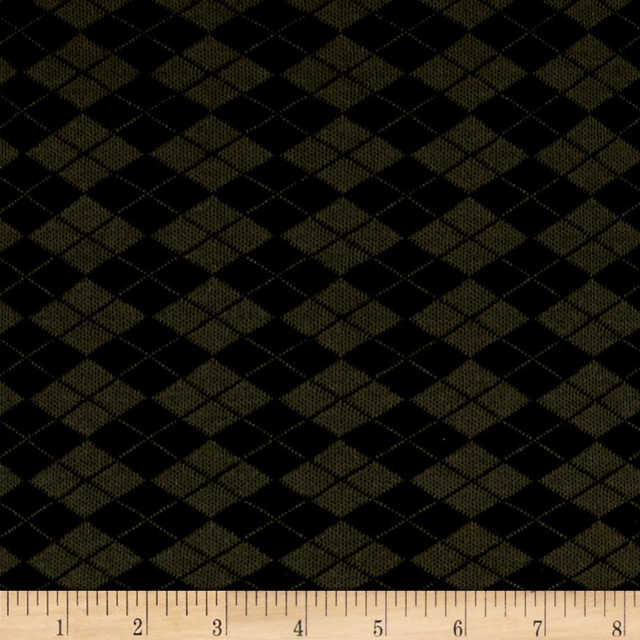 Hatchi Knit Checkered Diamonds Olive/Black