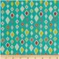 Riley Blake Boy Crazy Flannel Diamonds Teal