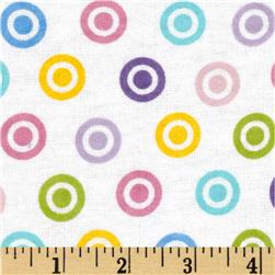 Alpine Flannel Basics Circle Dots Multi/Pastel Fabric