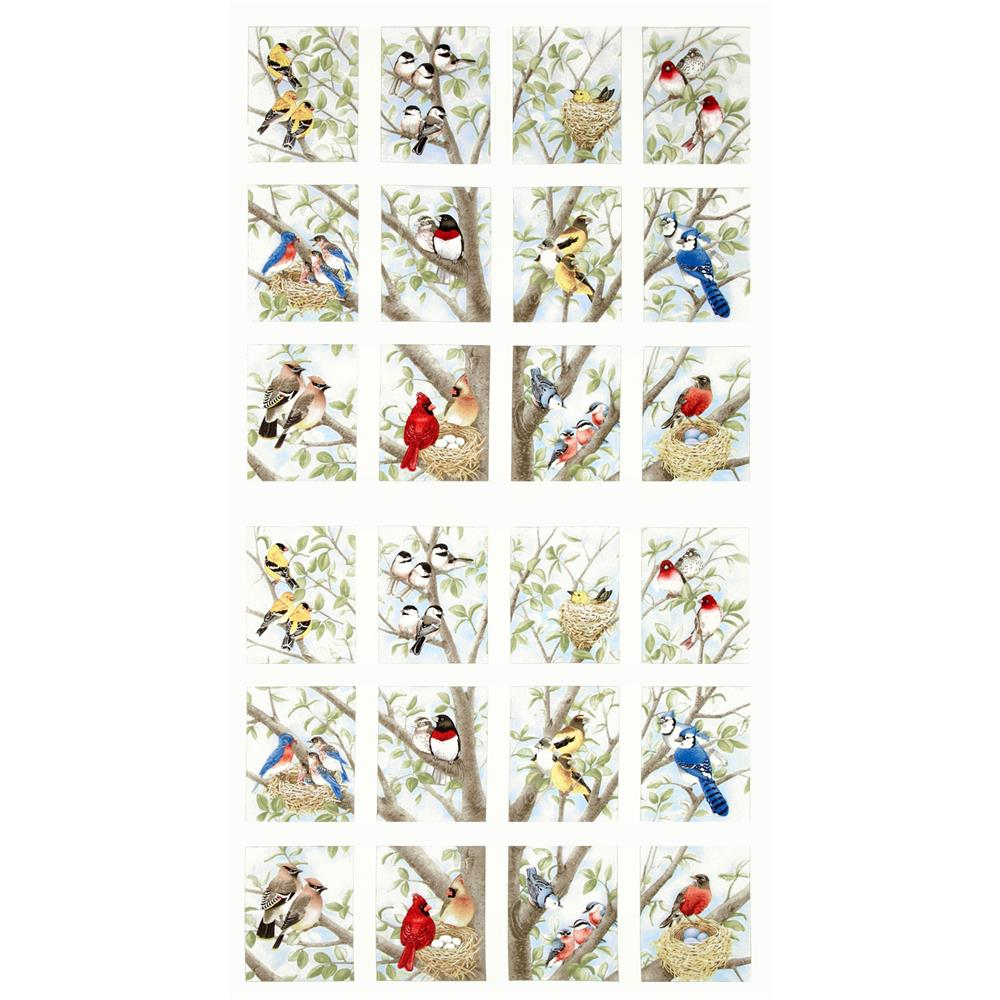 Beautiful Birds Panel Cream