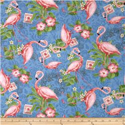 Neptune's Garden Flamingo All Over Blue
