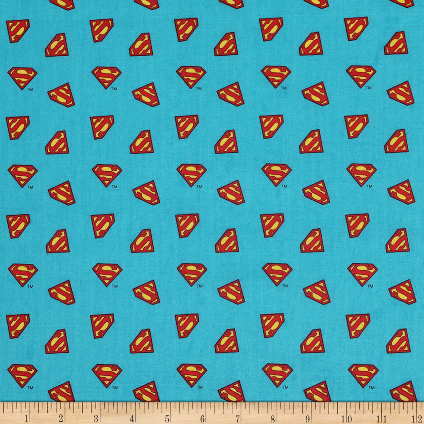 DC COMICS ll Superman Logo Topaz Fabric