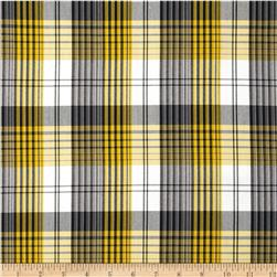 Polyester Uniform Plaid Yellow/Black/White