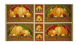 "Harvest Greetings 23.5"" Panel Multi"
