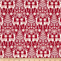 Scandi 3 Reindeer   Red