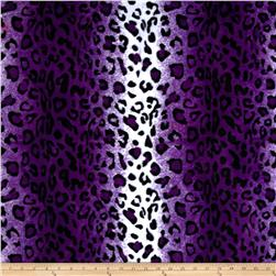 Velboa Faux Fur Leopard Purple