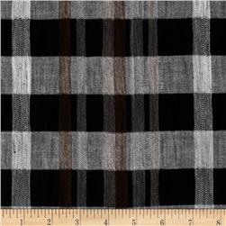 Gauze Plaid Black/White/Grey