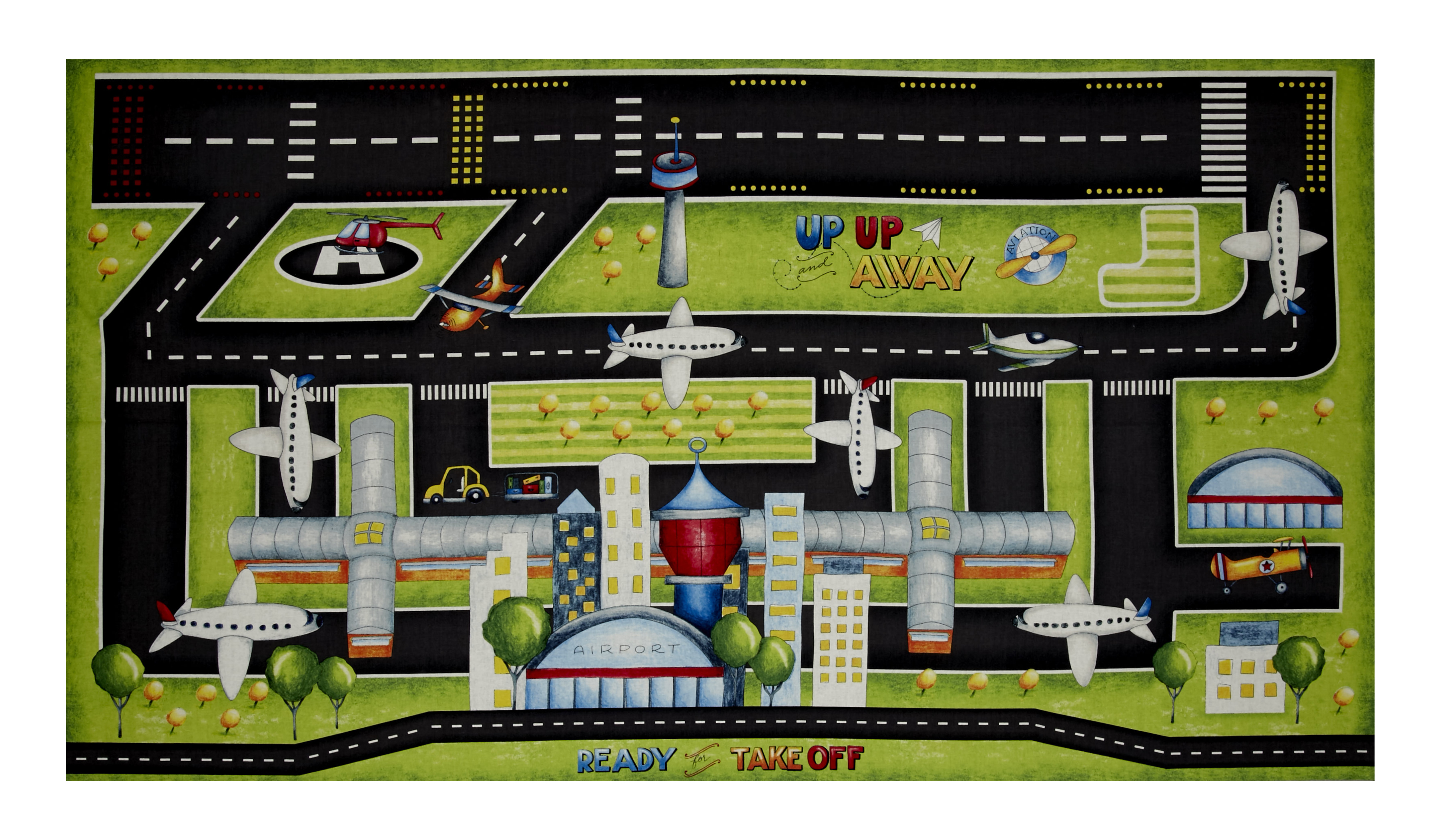 Ready For Takeoff Playmat 25'' Panel Multi Fabric 0493802