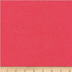 Timeless Treasures Dreaming in Pearle Dots Coral Fabric