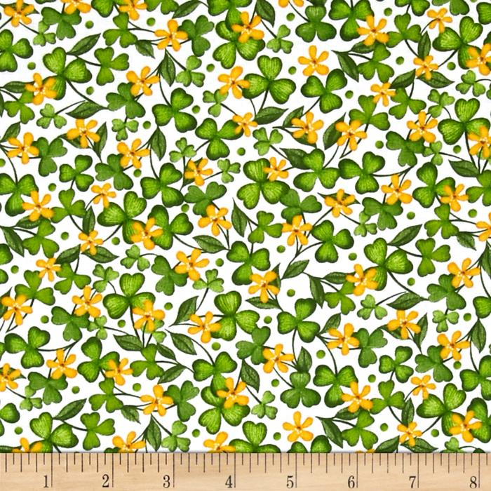 Lucky Shamrocks Shamrocks & Clovers White