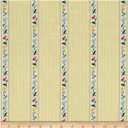 Penny Rose Bunnies & Cream Bunnies Stripe Yellow
