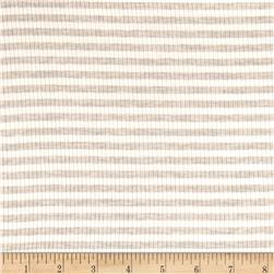 4X2 Rib Knit Small Stripe Ivory/Oatmeal