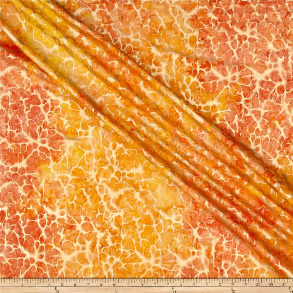 Indian Batik Montego Bay Gold Abstract  Orange /Yellow