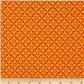 Celestial Sol Metallic Star Geometric Orange