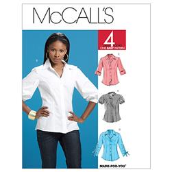 McCall's Misses' Shirts Pattern M6035 Size AA0
