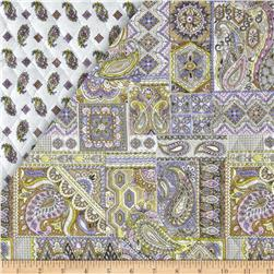 Chelsea Double Sided Quilted Paisley Multi Fabric