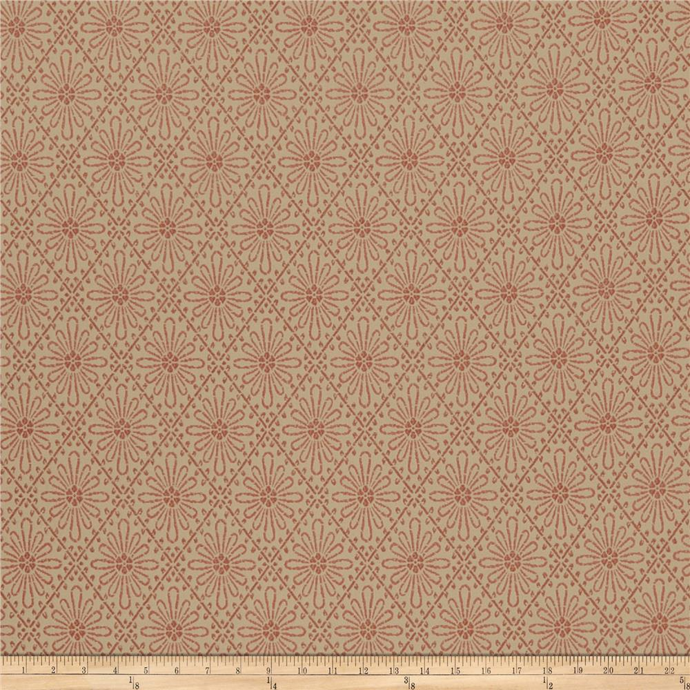 French General Paquerette Jacquard Rouge