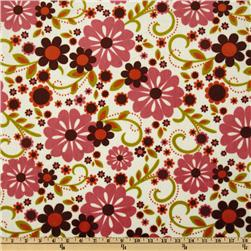 Indian Summer Minky Dreamy Large Floral Cream