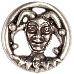 Metal Button 1 1/4'' Jester Antique Nichel