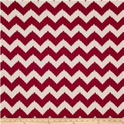 ITY Stretch Knit Abstract Chevron Red/Beige
