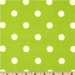 Premier Prints Polka Dot Lime Fabric