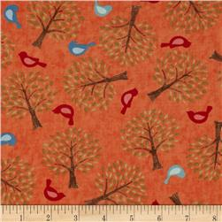 Moda Family Tree Birds & Trees Blossom Orange