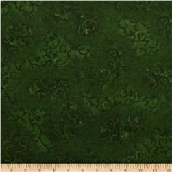 108'' Wide Essentials Flannel Quilt Backing Scroll Green