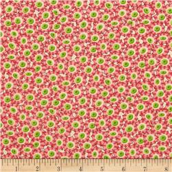 Mary Englebreit Flutterby Small Packed Flowers Multi Fabric