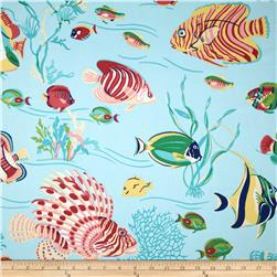 Duralee Pacific Fish Sateen Aquamarine