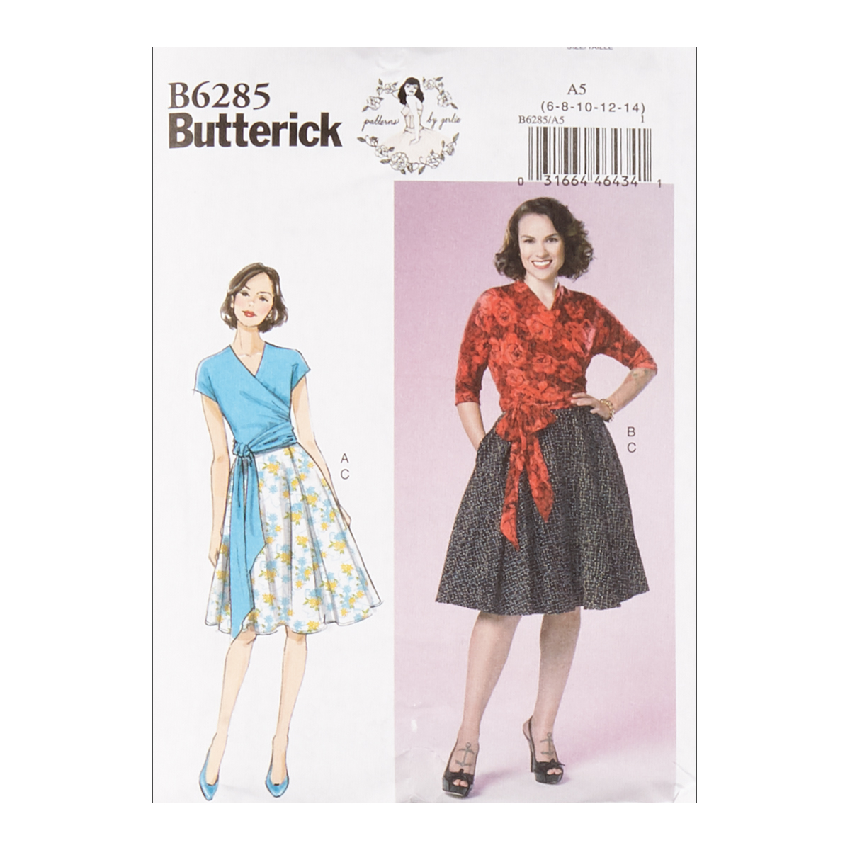 1950s Sewing Patterns | Dresses, Skirts, Tops, Mens Butterick B6285 Patterns by Gertie Misses Top and Skirt A5 Sizes 6-14 $11.97 AT vintagedancer.com