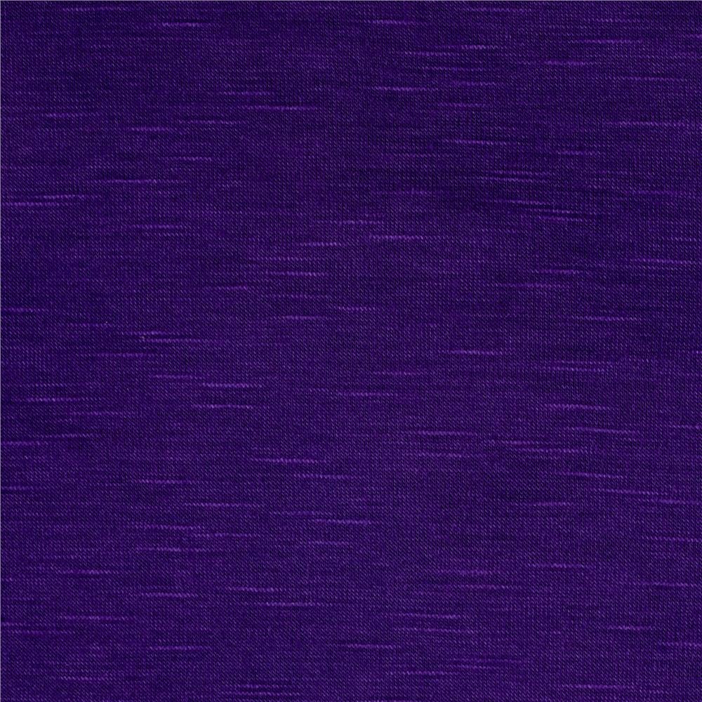 Slub Rayon Jersey Knit Purple