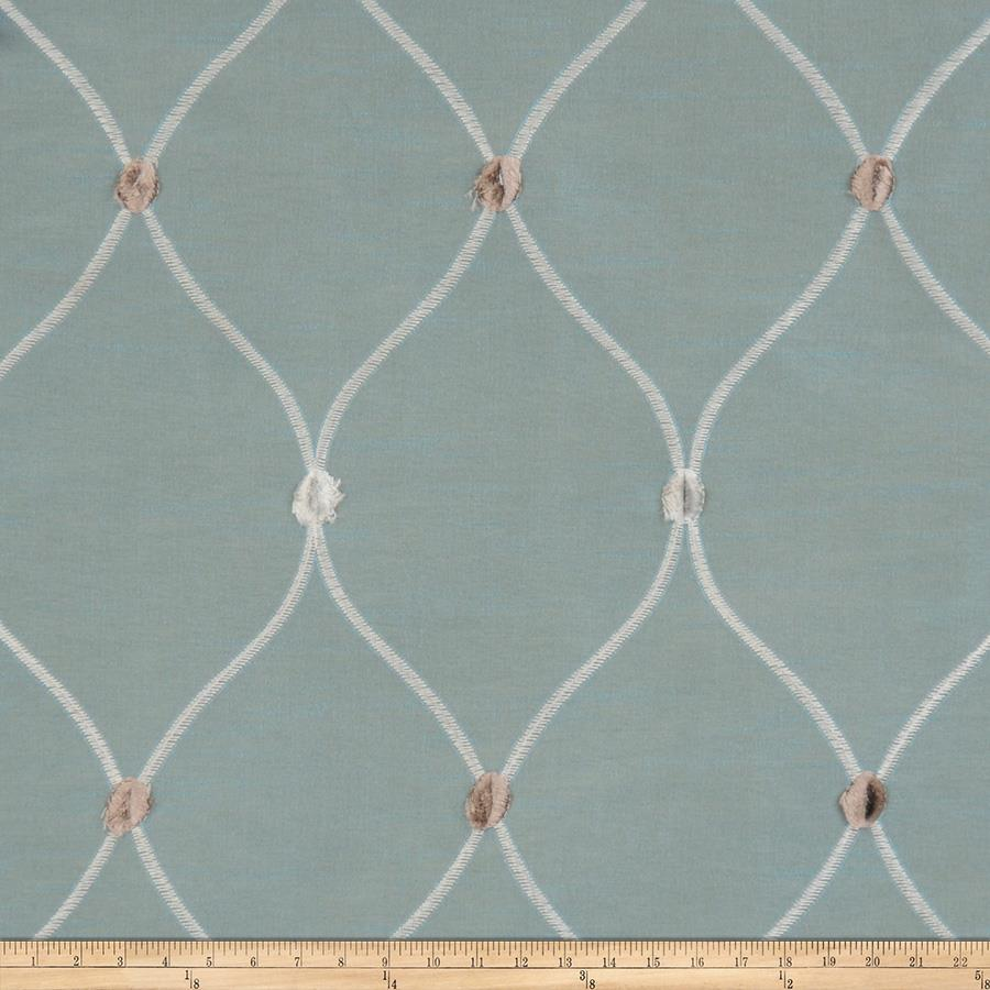 Fabricut Rockaway Lattice Taffeta Chambray