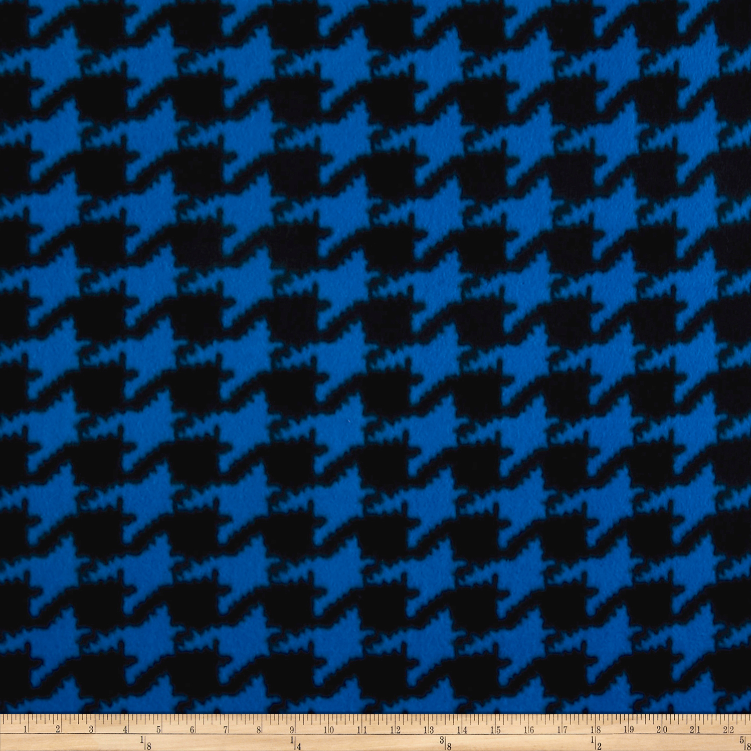 Whisper Coral Fleece Houndstooth Blue Fabric By The Yard by Newcastle in USA